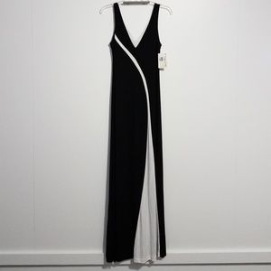NWT Vintage Black and white graphic maxi dress